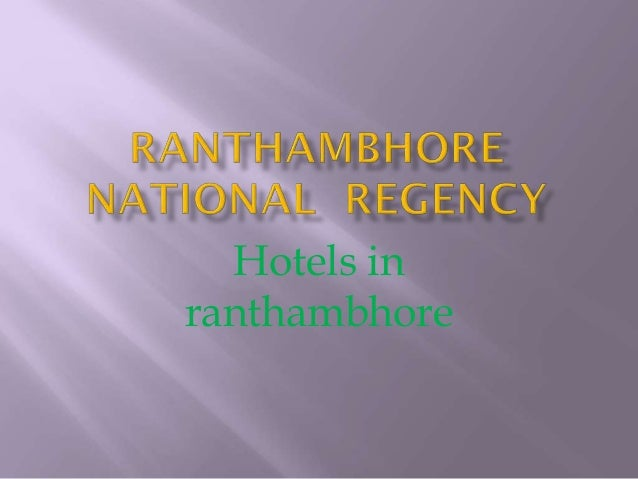 Hotels in ranthambhore