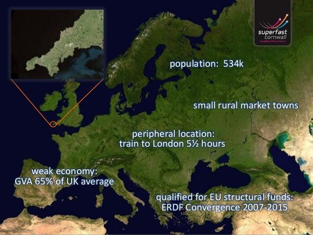 population: 534k peripheral location: train to London 5½ hours small rural market towns weak economy: GVA 65% of UK averag...