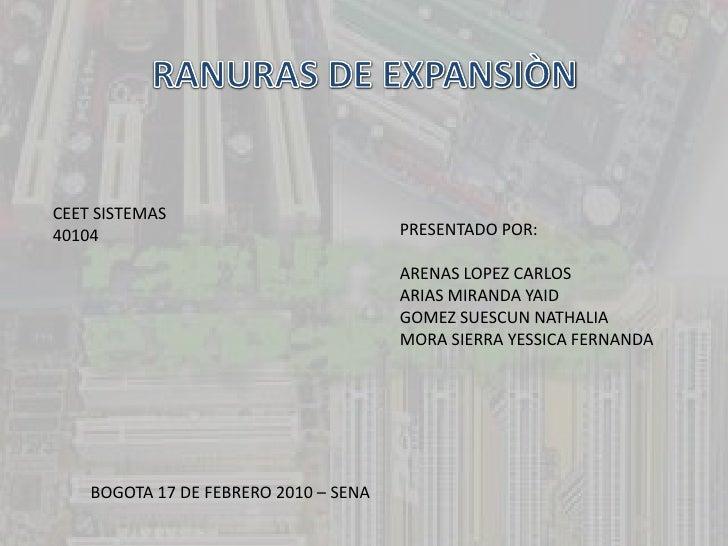 CEET SISTEMAS 40104                                  PRESENTADO POR:                                         ARENAS LOPEZ ...