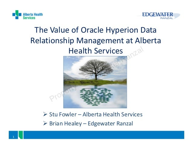 The Value of Oracle Hyperion Data    Relationship Management at Alberta              Health Services nzal                 ...