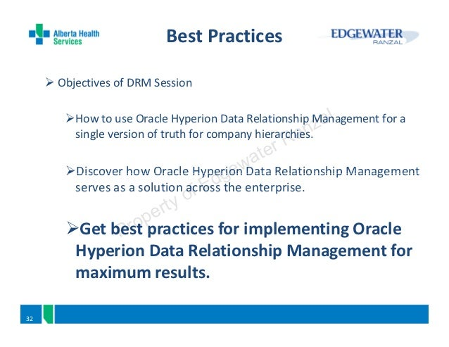 oracle hyperion data relationship management web Oracle hyperion data relationship management(drm) synchronizes enterprise data across business performance management applications, including business intelligence (bi) platforms, financial and analytic applications, and transaction systems in this course, students learn how to implement drm.