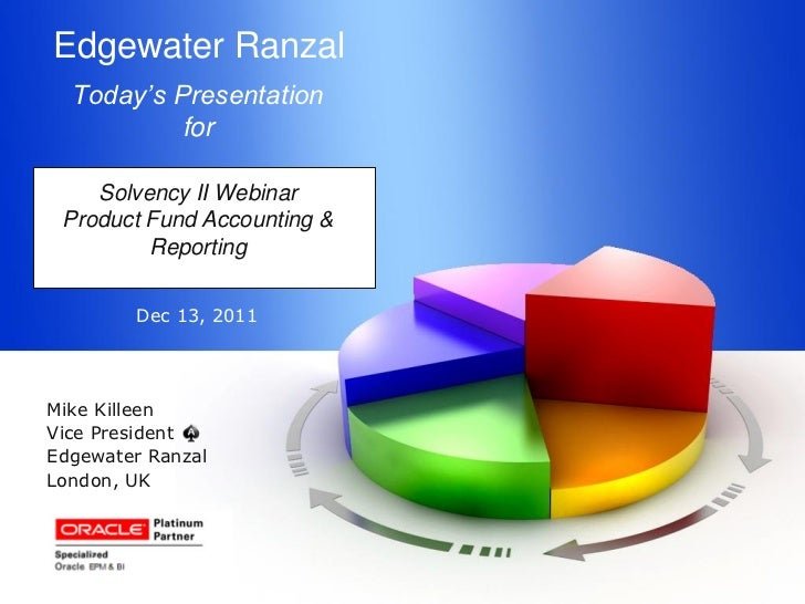 Edgewater Ranzal  Today's Presentation          for    Solvency II Webinar Product Fund Accounting &         Reporting    ...