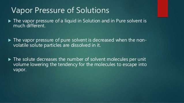RAOULT'S LAW ( Physical & Analytical Chemistry)