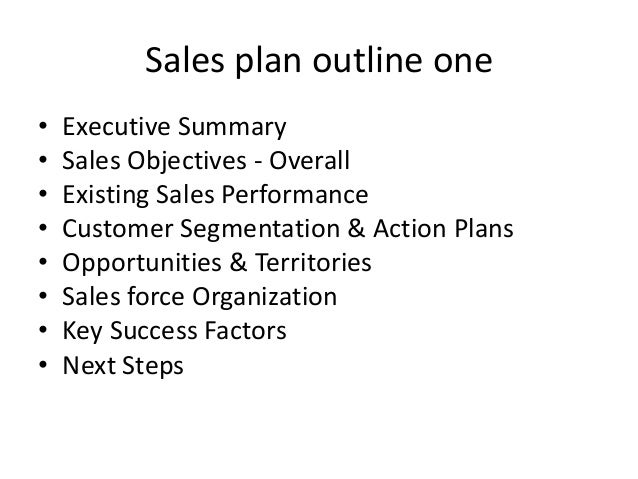 Beautiful Sales Plan Outline ...