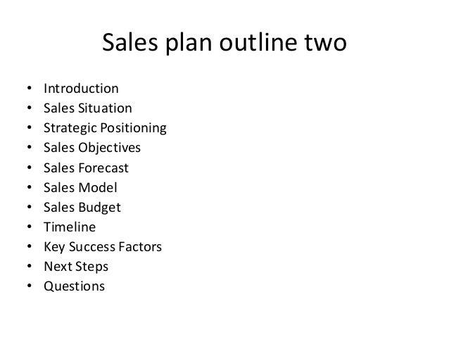 sales plan outline