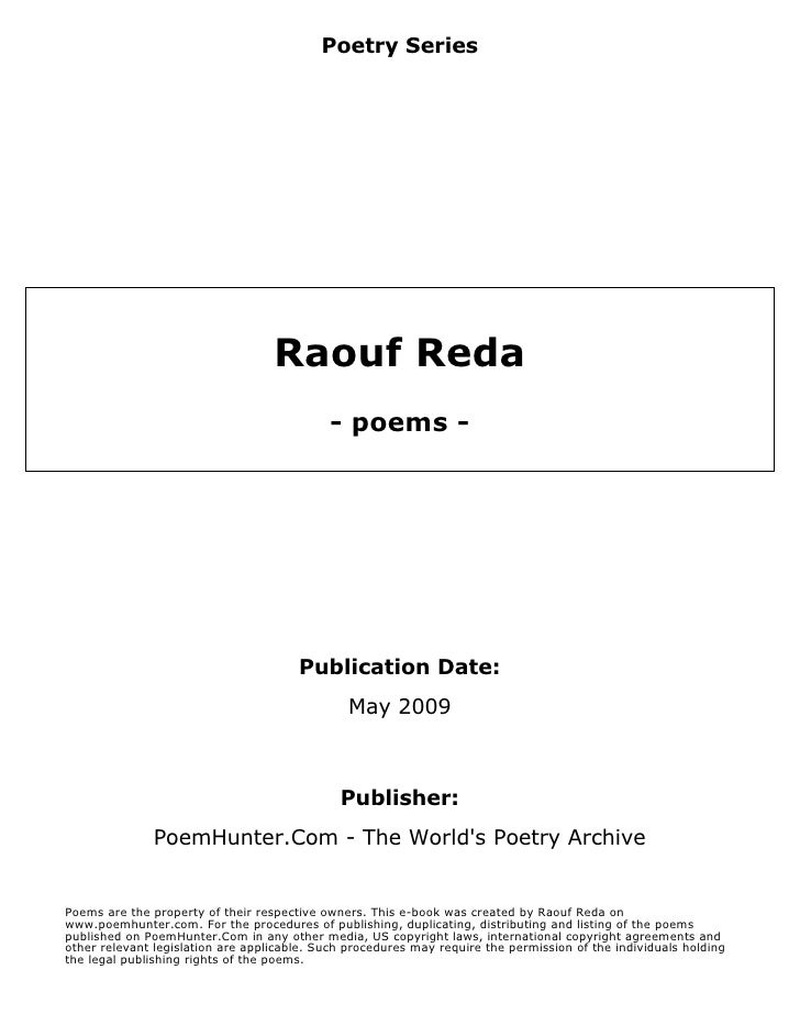 Poetry Series                                        Raouf Reda                                             - poems -     ...
