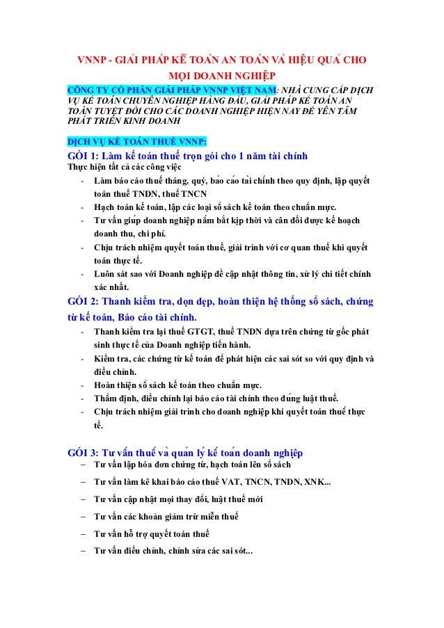 VNNP - GIẢI PHÁP KẾ TOÁN AN TOÀN VÀ HIỆU QUẢ CHO                    MỌI DOANH NGHIỆPCÔNG TY CỔ PHẦN GIẢI PHÁP VN...
