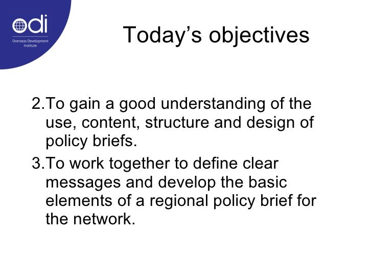 Policy briefs as a tool for communicating development research Slide 2
