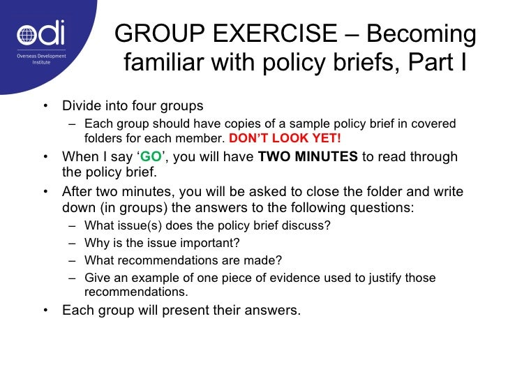 Policy briefs as a tool for communicating development research Slide 3