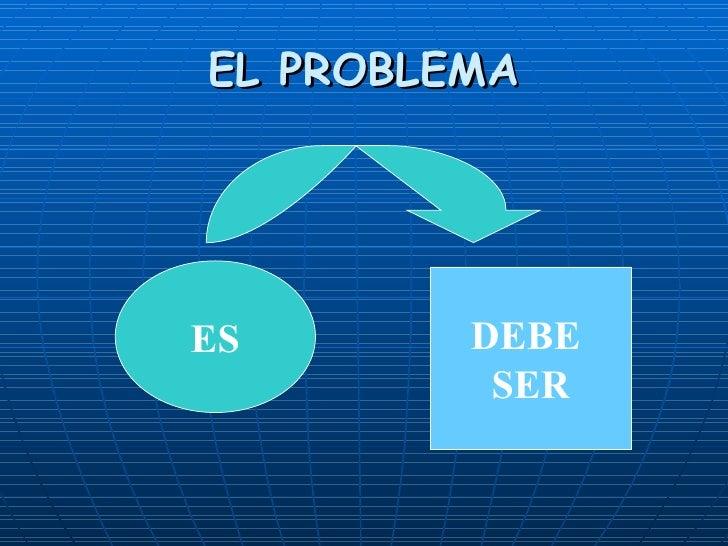 EL PROBLEMA ES DEBE  SER