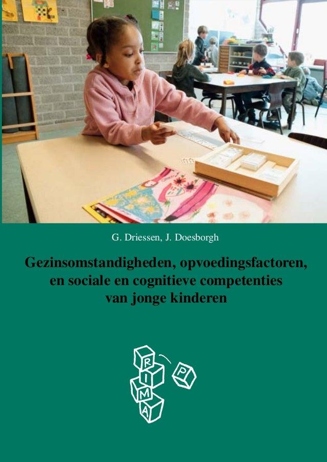 G. Driessen, J. Doesborgh  Gezinsomstandigheden, opvoedingsfactoren, en sociale en cognitieve competenties van jonge kinde...