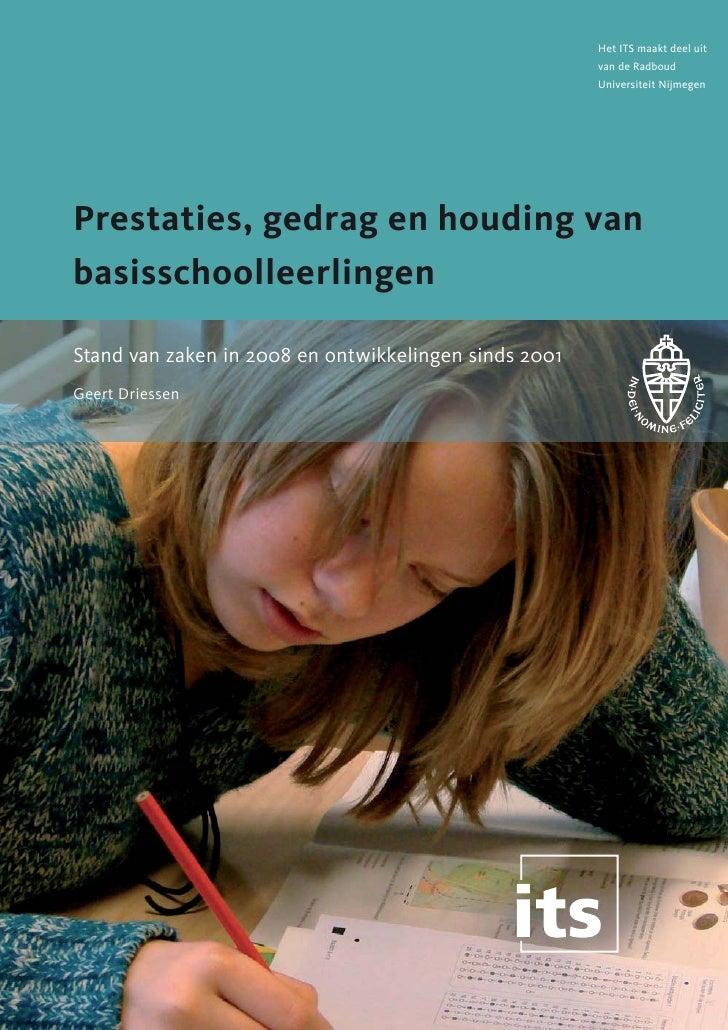 Het ITS maakt deel uit                                                       van de Radboud                               ...