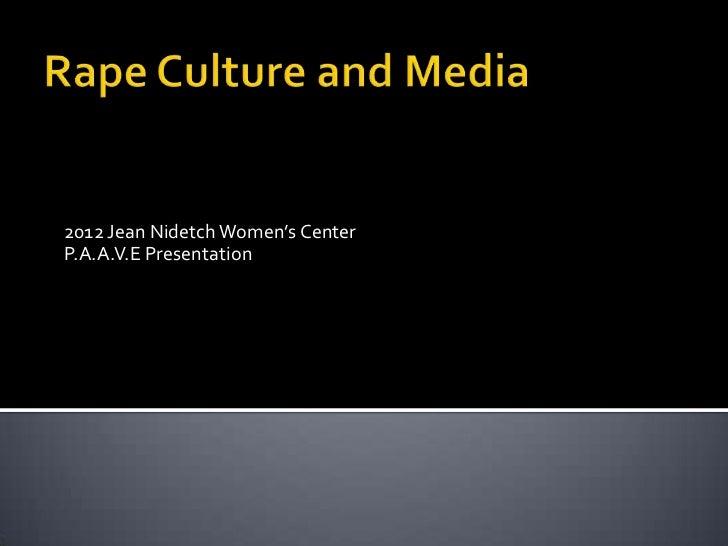 2012 Jean Nidetch Women's CenterP.A.A.V.E Presentation