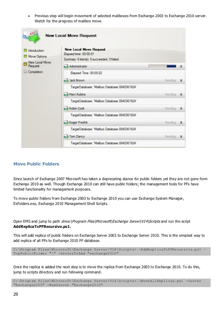 Rapid Transition Guide From Exchange 2003 To Exchange 2010