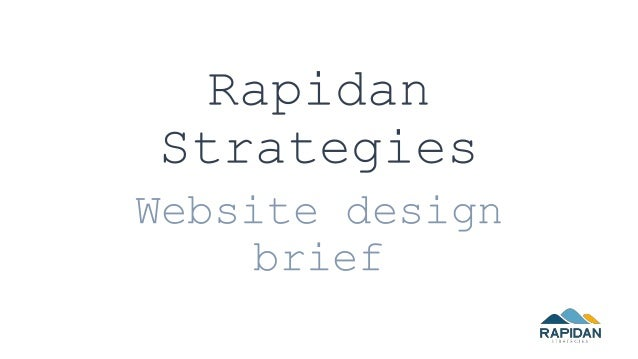 Rapidan Strategies Website design brief