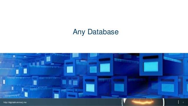 http://digitaldrummerj.me 4 Any Database