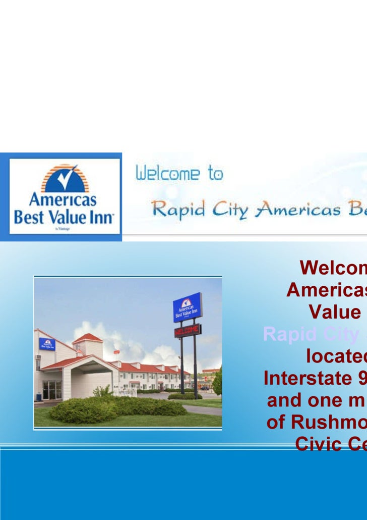 Welcome to Americas Best Value Inn  Rapid City SD Hotel  located on Interstate 90 exit 58 and one mile north of Rushmore P...