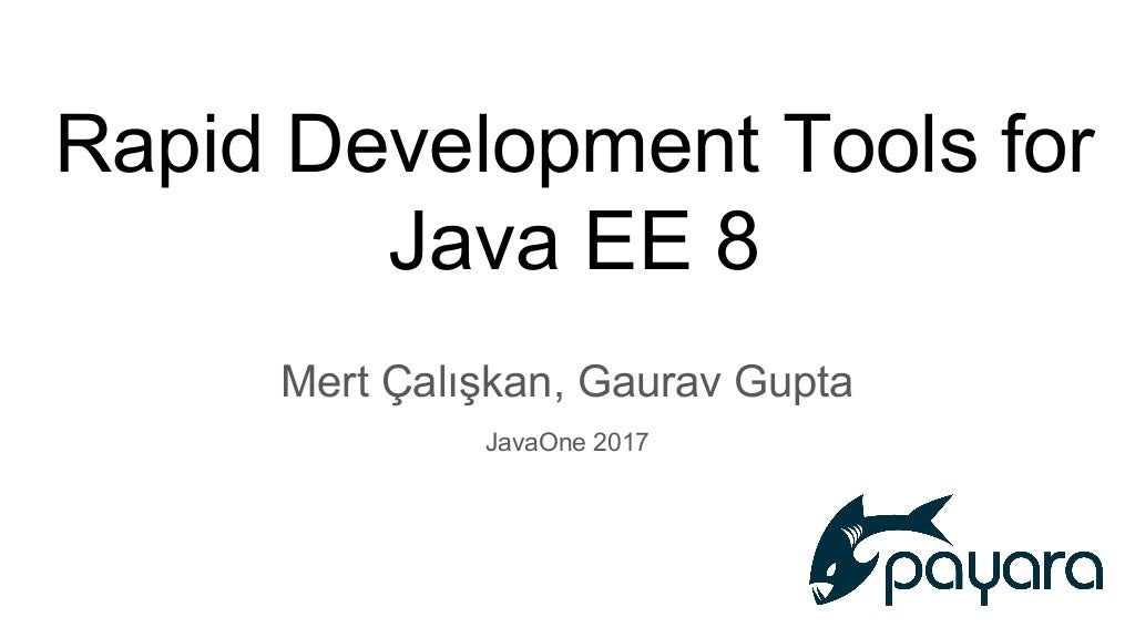 Rapid Development Tools for Java EE 8 [TUT2998]