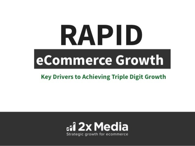 RAPID  Key Drivers to Achieving Triple Digit Growth  ail 2X Media  Strategic growth for ecomm