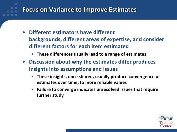 project estimation techniques