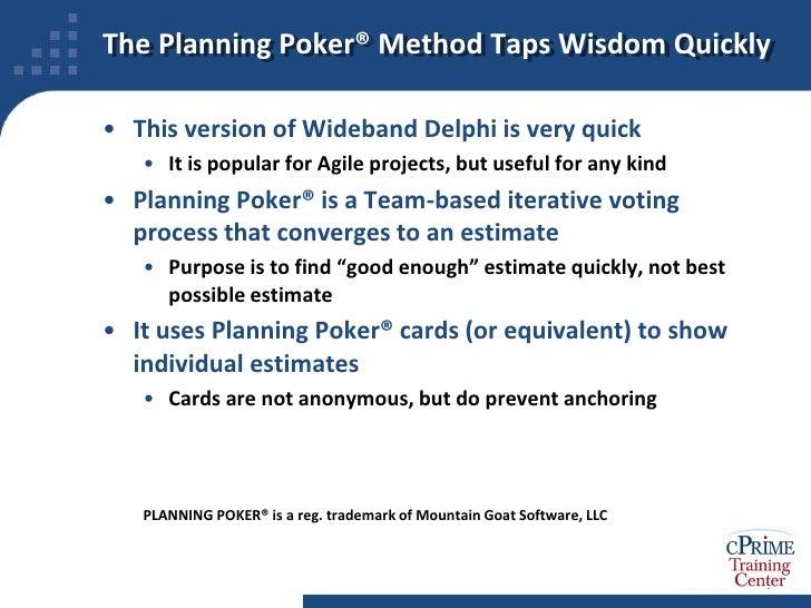 Correct characteristics of planning poker estimation technique aria poker tournament schedule