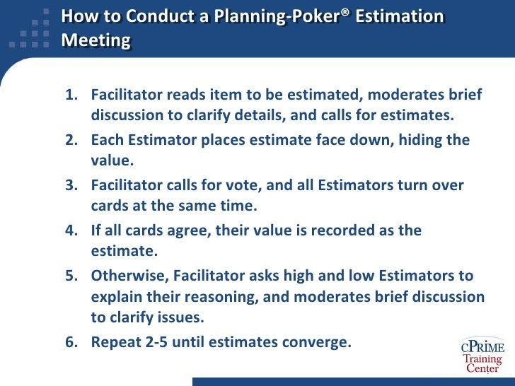 Agile projects rapid estimation techniques tips for Planning poker cards template