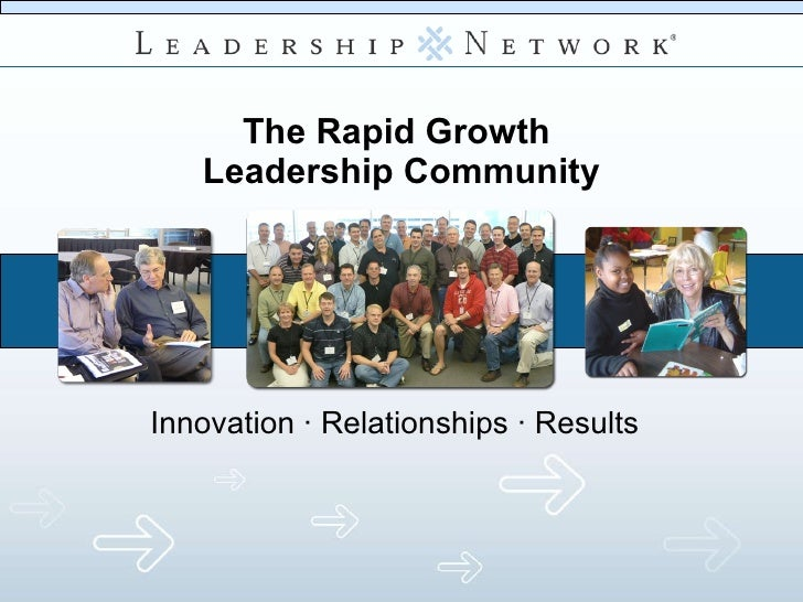 The Rapid Growth  Leadership Community Innovation  · Relationships · Results
