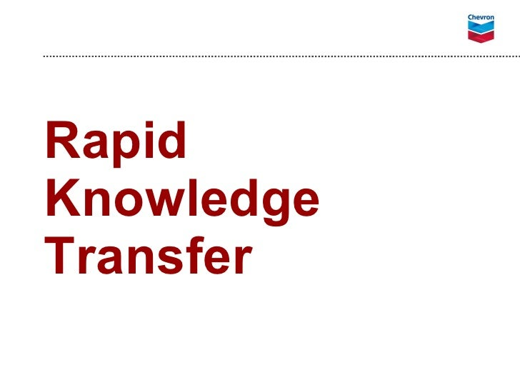 Rapid Knowledge Transfer