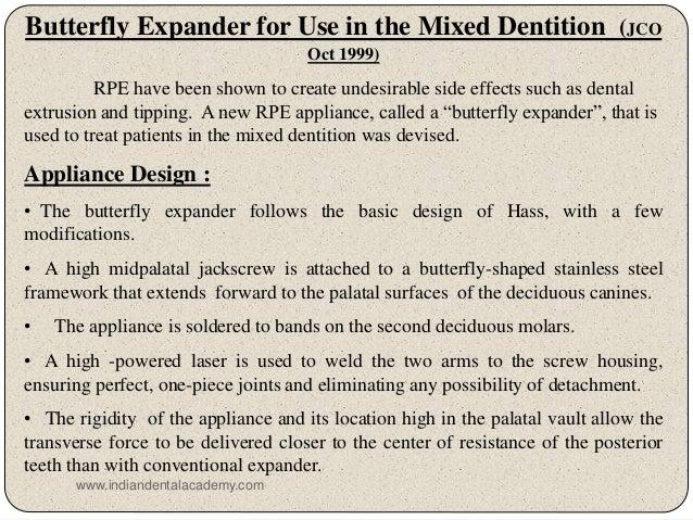 Rapid maxillary expansion in orthodontics