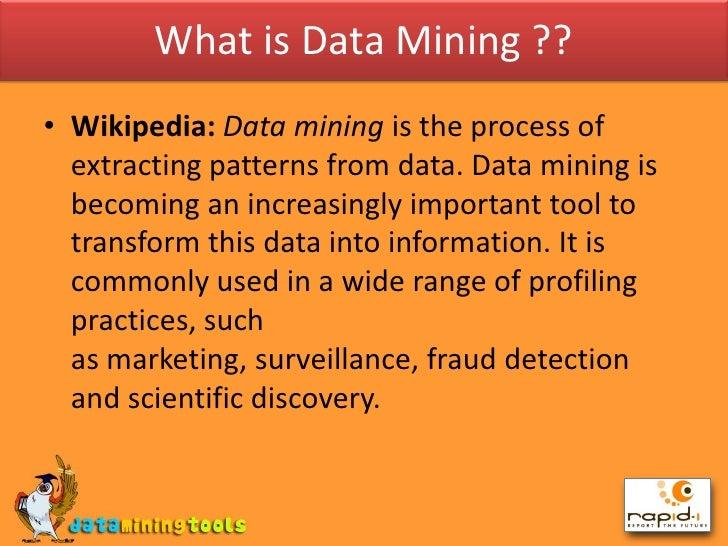 Rapidminer image mining wikipedia