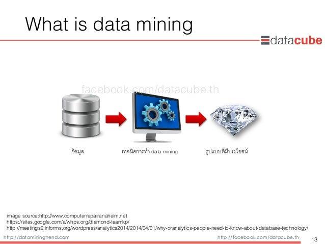 http://dataminingtrend.com http://facebook.com/datacube.th What is data mining 13 ข้อมูล' เทคนิคการทำ data mining' รูปแบบท...