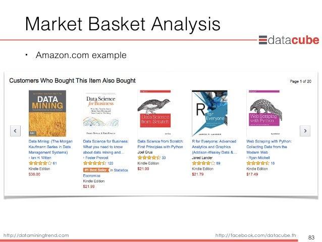 http://dataminingtrend.com http://facebook.com/datacube.th Market Basket Analysis • Amazon.com example 83