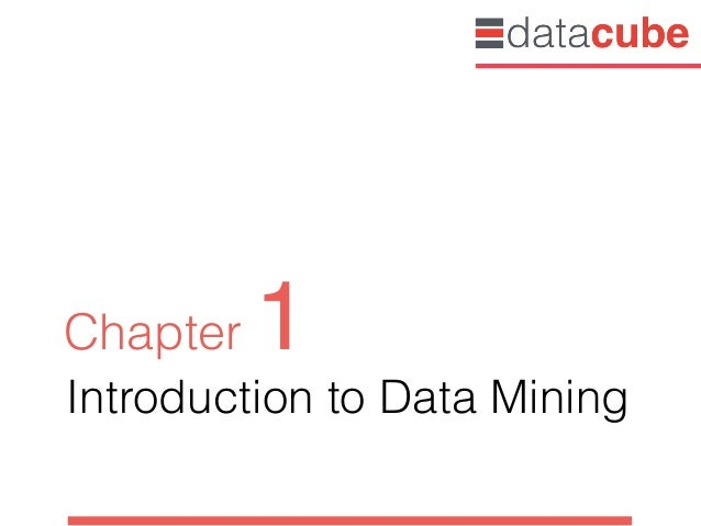 Introduction to Data Mining Chapter 1