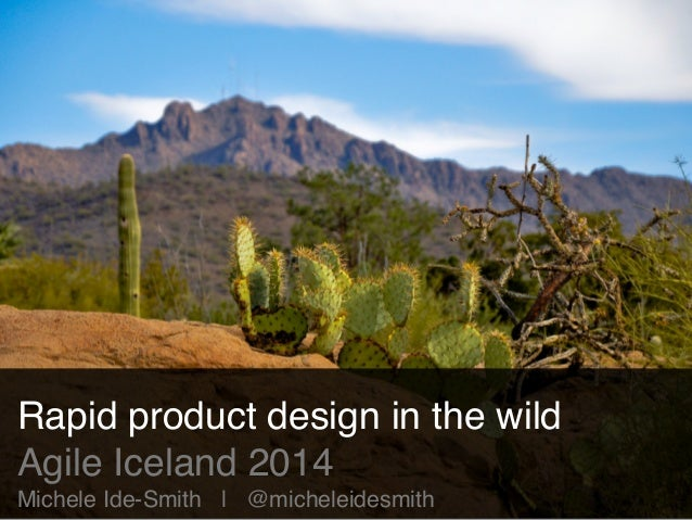 Rapid product design in the wild!  Agile Iceland 2014!  Michele Ide-Smith | @micheleidesmith