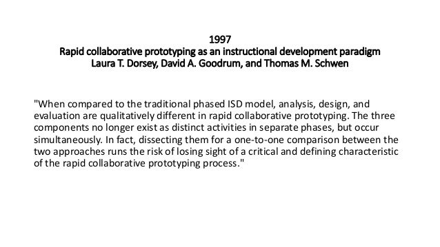 Rapid Prototyping For Instructional Design Over Time