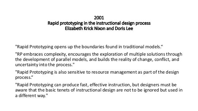 rapid instructional design model