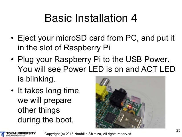Raspberry Pi Act Led