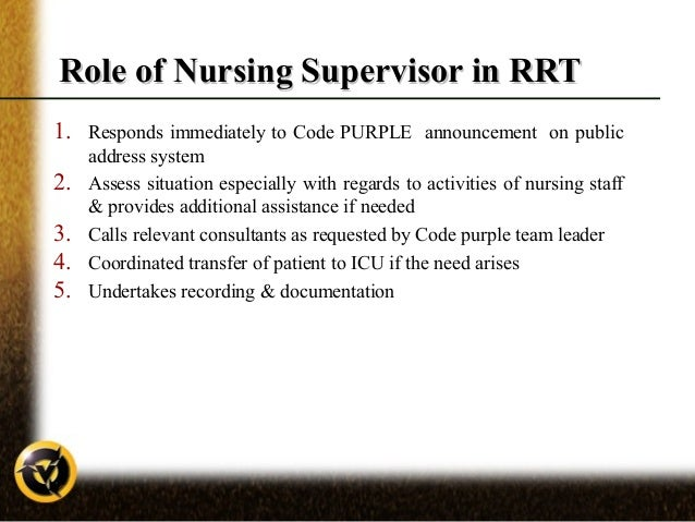 nursing supervisor job description