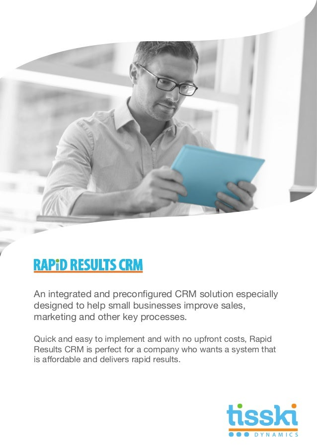 An integrated and preconfigured CRM solution especially designed to help small businesses improve sales, marketing and oth...