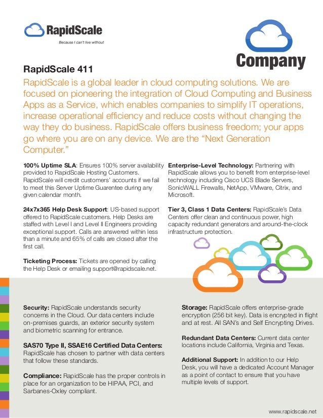 RapidScale is a global leader in cloud computing solutions. We are focused on pioneering the integration of Cloud Computin...