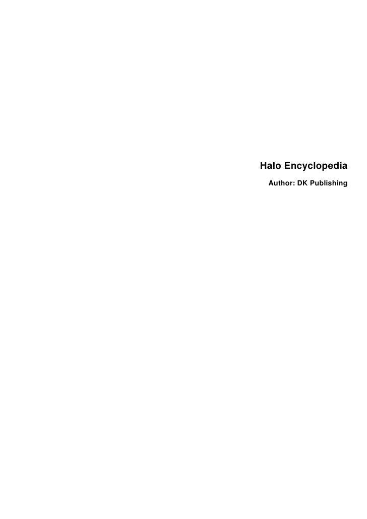 Halo Encyclopedia  Author: DK Publishing