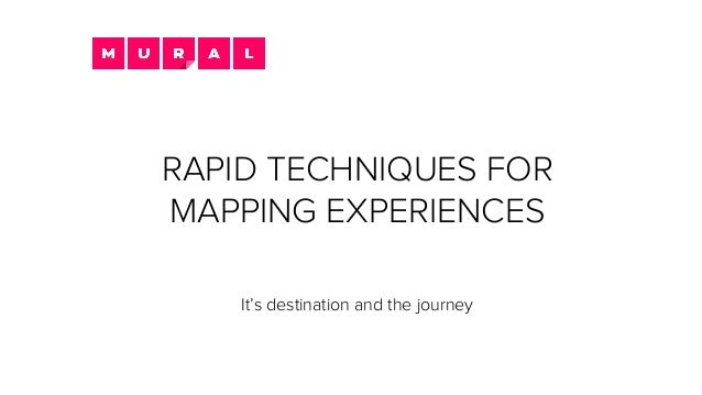 RAPID TECHNIQUES FOR MAPPING EXPERIENCES It's destination and the journey