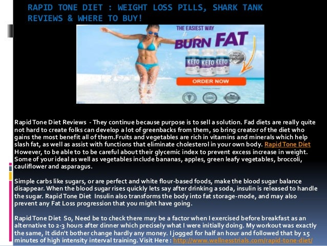 Rapid Tone Diet Easy Way To Get Rid Of Extra Body Fat