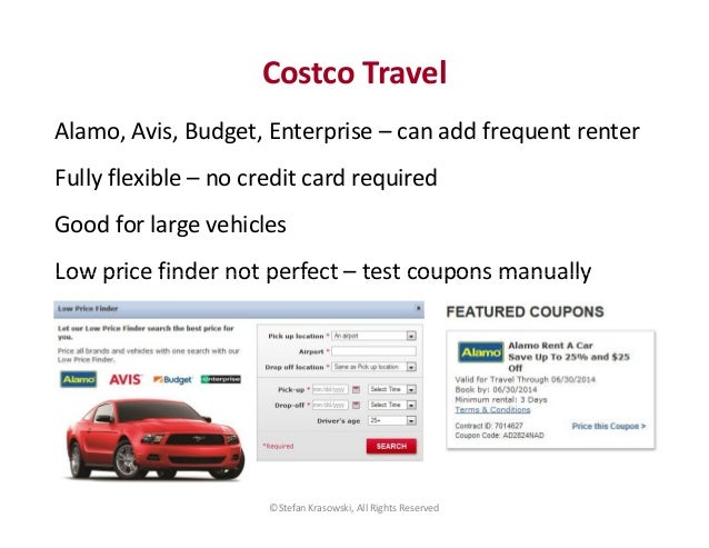 Costco Car Rental Discount Codes Alamo