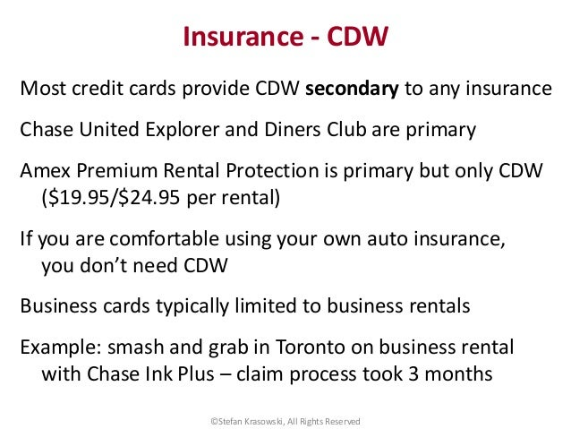 Do Charge Cards Provide Rental Car Insurance Protection