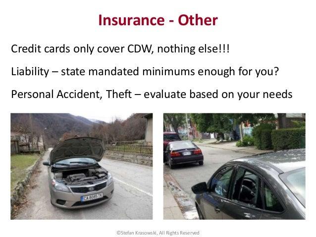 Rental Car Mandated For Liability Insurance