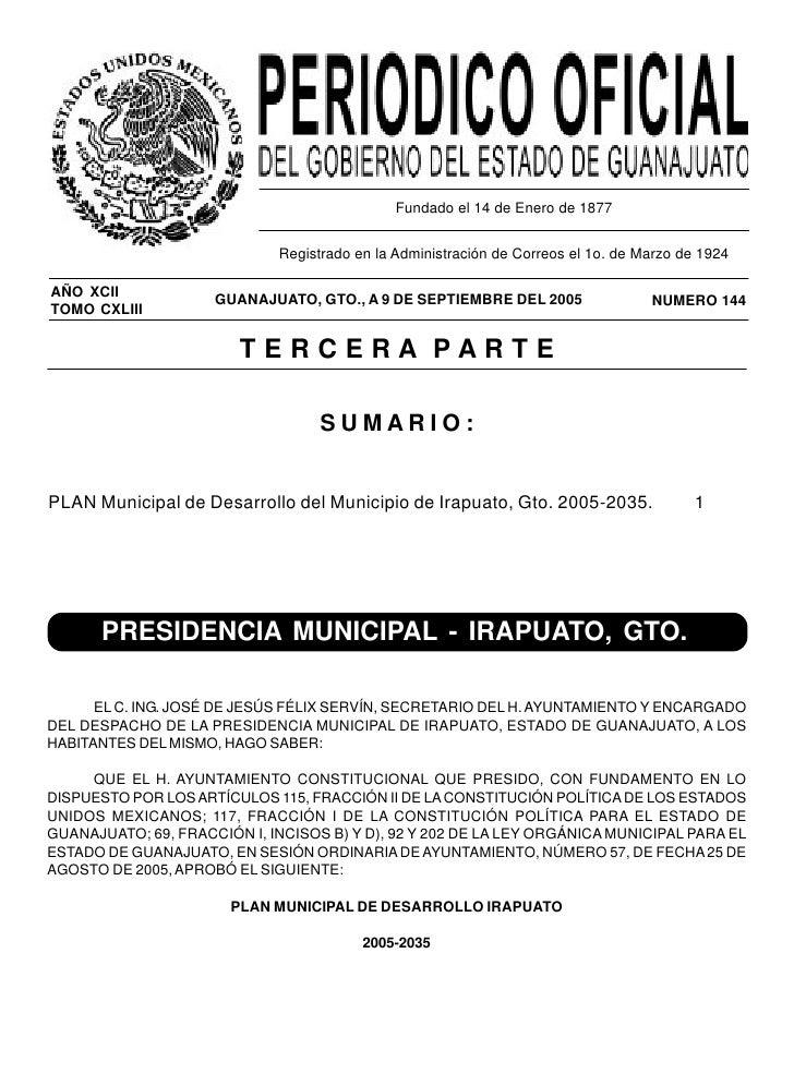 PERIODICO OFICIAL                9 DE SEPTIEMBRE - 2005                                PAGINA 1                           ...
