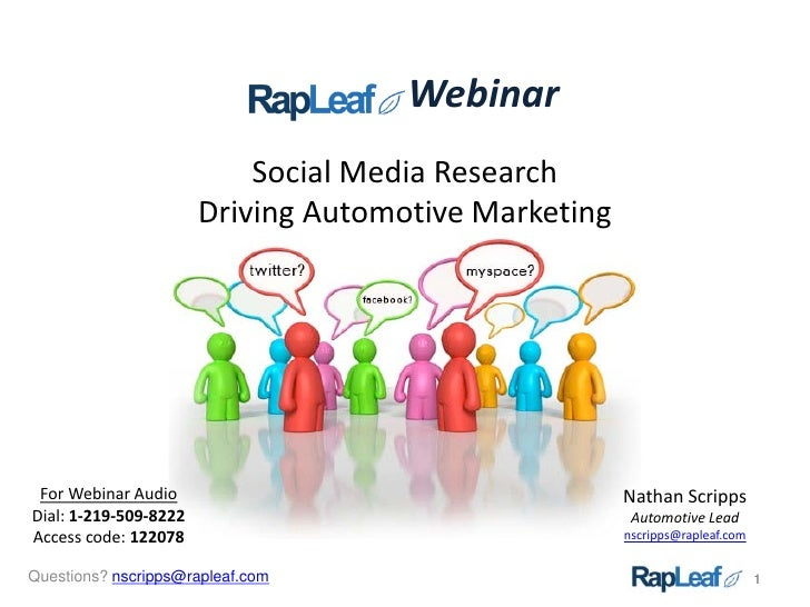 Webinar                            Social Media Research                        Driving Automotive Marketing      For Webi...