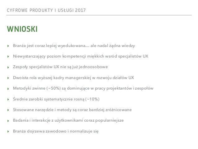 Raport UX 2017 - Cyfrowe produkty i usługi