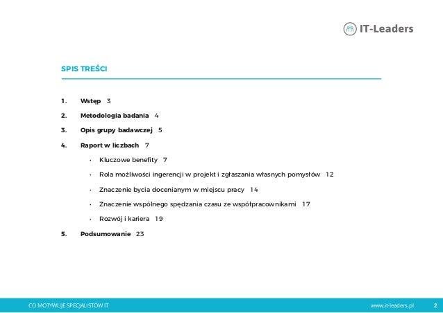 Raport 2017 benefity pozapłacowe co_motywuje_specjalistów_it Slide 2